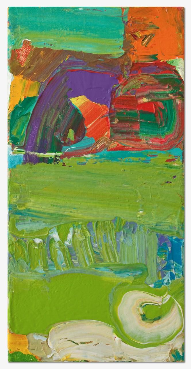 Petra Amerell Ohne Titel (12-20) Pigmente und Binder/Leinwand 40 x 20 cm