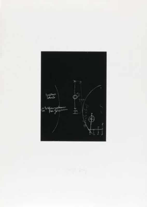 Joseph Beuys Griffelkunst Tafel 1 (von 3) Sienbdruck