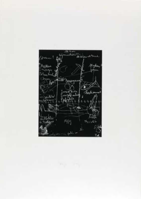 Joseph Beuys Griffelkunst Tafel 2 (von 3) Sienbdruck