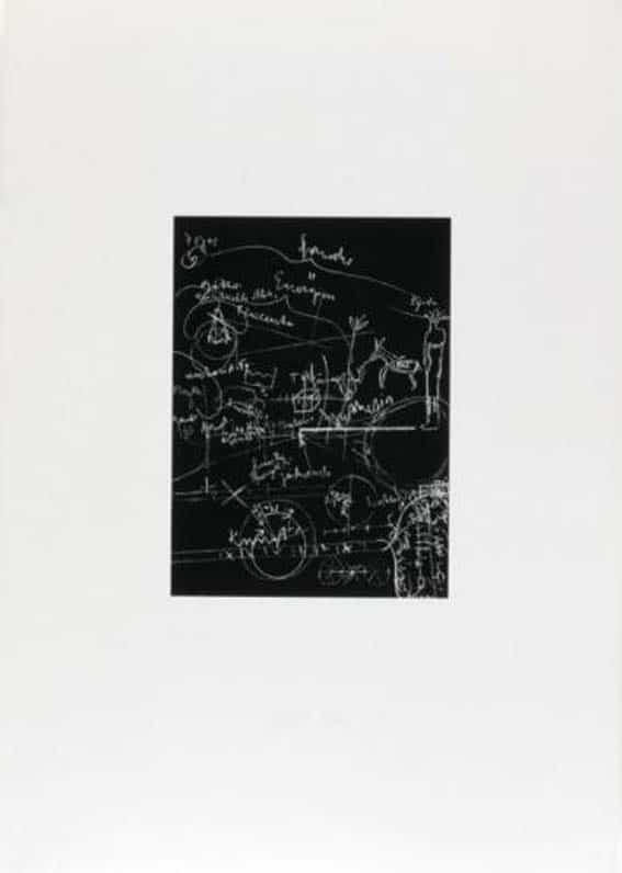 Joseph Beuys Griffelkunst Tafel 3 (von 3) Sienbdruck