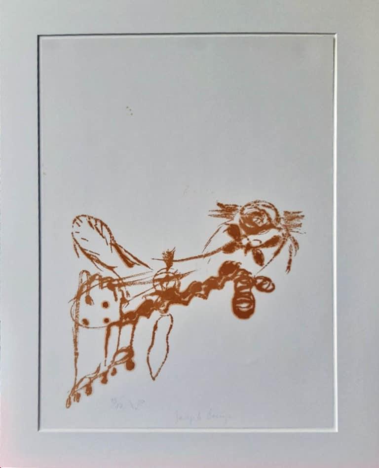 Joseph Beuys Spur I Bienenkönigin Lithografie