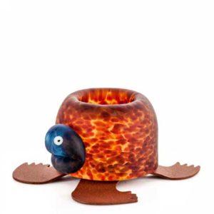 Glasstudio Borowski Turtle Teelichthalter