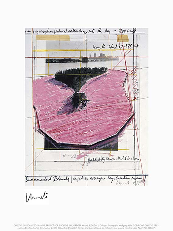 Christo & Jeanne-Claude Surrounded Islands I