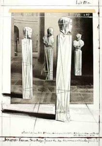 Christo Wrapped Roman Sculptures, 1991