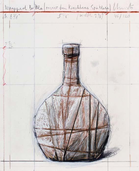 Christo Wrapped Bottle