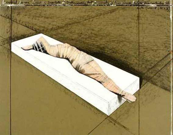 Christo Wrapped Woman