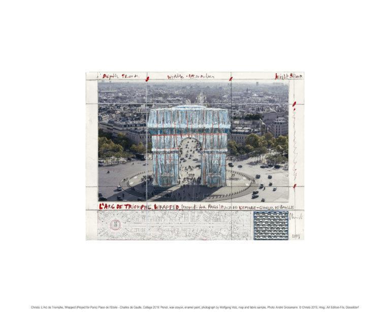 Christo Arc de Triomphe, Project for Paris Pigmentdruck auf Bütten