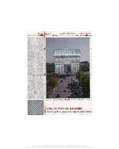 Christo Arc de Triomphe II, Project for Paris Pigmentdruck auf Bütten