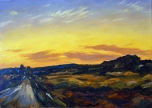 Andreas Decke Dem Sonnenuntergang entgegen
