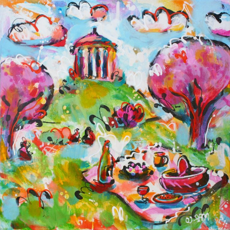 Marco Grieser Picknick am Monopteros Acryl/Leinwand