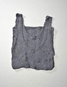 Katja Then Flusenhemd Trocknerflusen (gesammelt, nach Farben sortiert, wieder in Form gebracht, ohen Bindemittel) ca. 40 x 30 cm