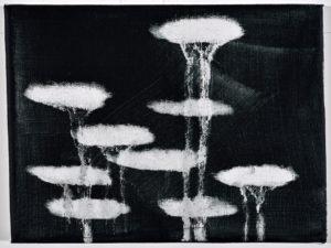 Katja Then Neolito, 2021 Acryl und Epoxidharz auf Leinwand 18 x 24 cm Unikat