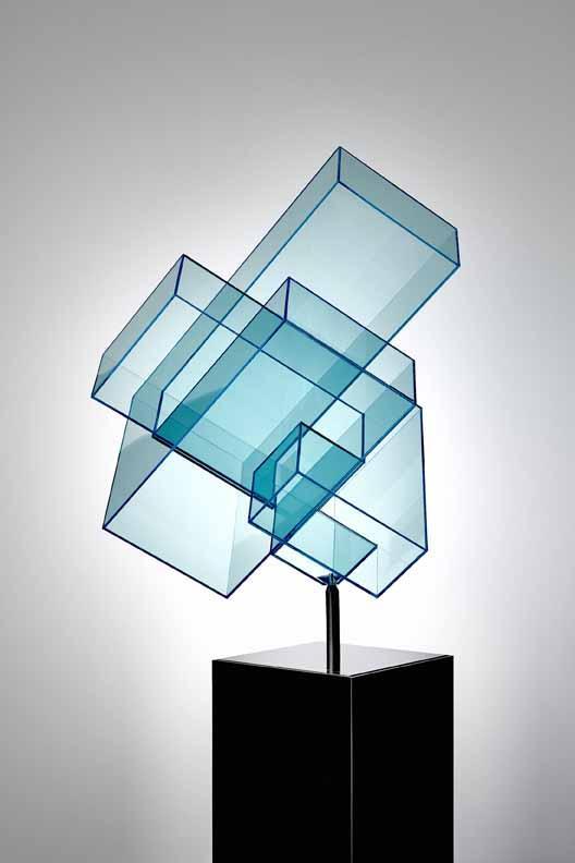 Ralph Kerstner Cube Graublau Acryl