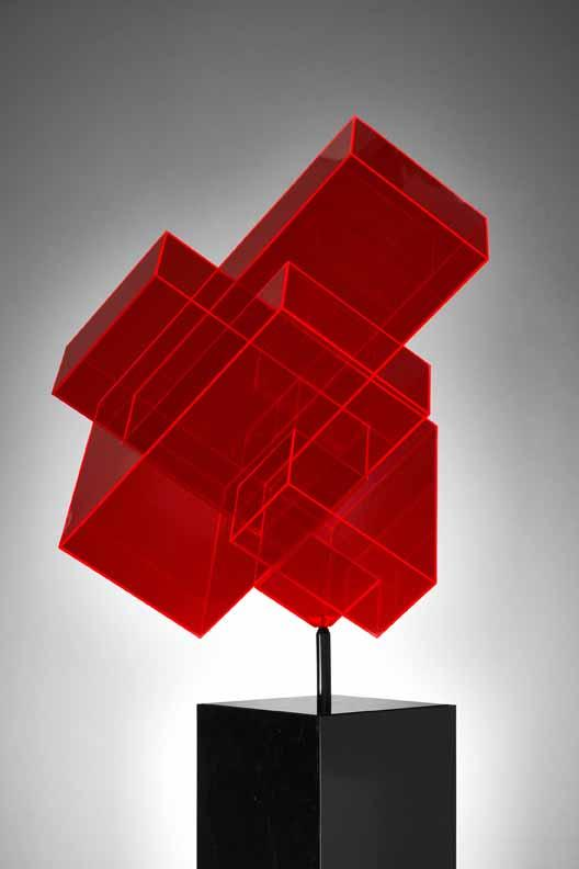 Ralph Kerstner Candycube Rot Acryl