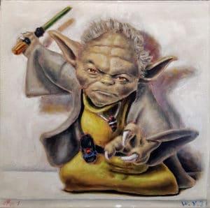 Andreas Schiller Ölgemälde WY 31, Yoda