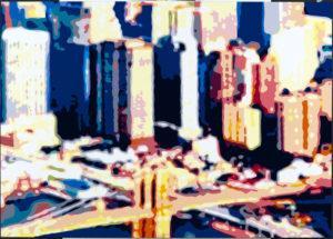 Konrad Winter New York City Autolack auf Aluminium