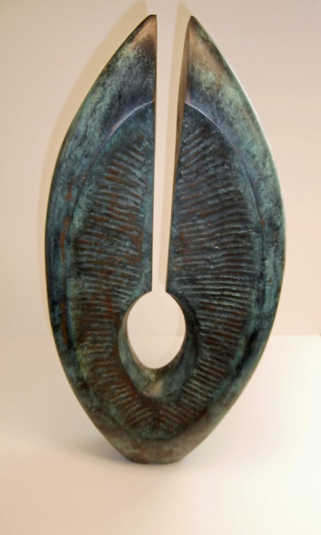 Pierre Schumann Kosmische Form Bronzeskulptur