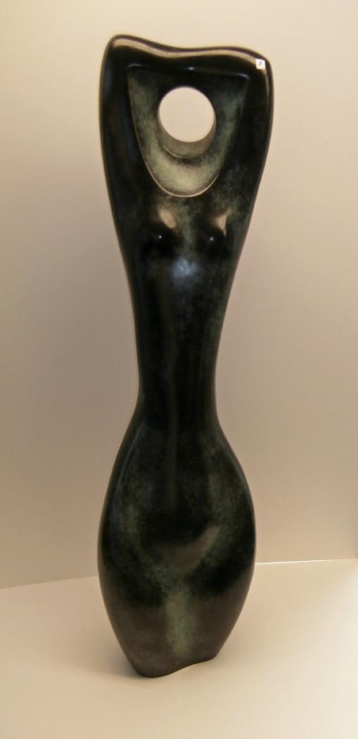 Pierre Schumann Weibliche Figuration, 1969, Bronzeskulptur patiniert