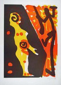 A. R. Penck Serie I, Rächer Farbserigraphie