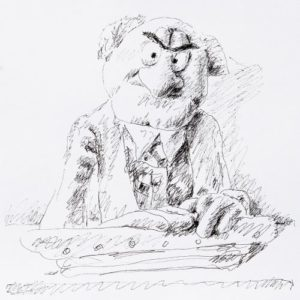 Andreas Schiller WKDA Muppets Statler Tuschezeichnung