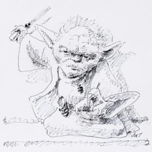 Andreas Schiller WKDA Yoda Tuschezeichnung