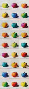 Andreas Schiller 27 Äpfel Monotype Digital Monotyping/Print Ultrachrom auf Leinwand
