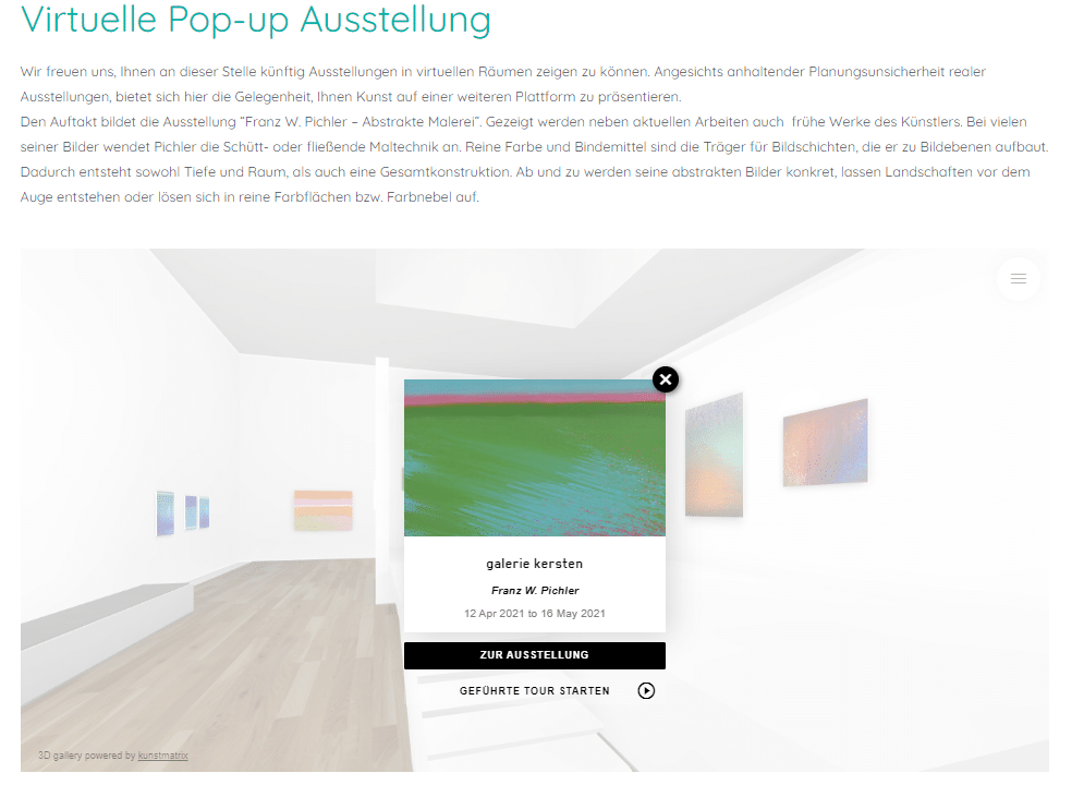 Virtuelle Ausstellung Franz Pichler Digitales Ausstellungsformat