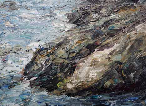 Rudi Weiss Kleine Landschaft 2019 Öl auf Leinwand