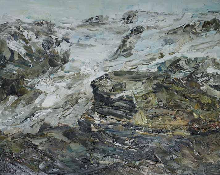 Rudi Weiss Gebirge, 11-08 Öl auf Leinwand