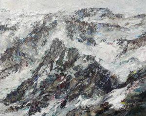 Rudi Weiss Berge, 11-2020 Öl auf Leinwand