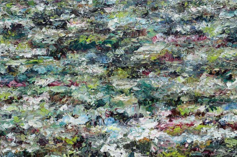 Rudi Weiss Garten, 14-2017 Öl auf Leinwand