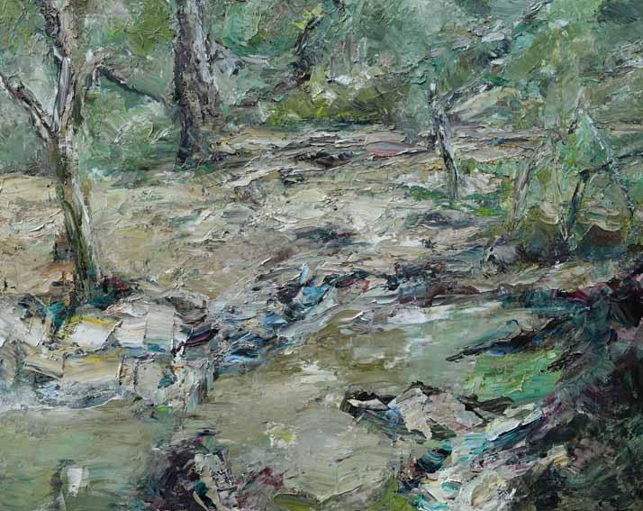 Rudi Weiss Fluss, 15-2020 Öl auf Leinwand