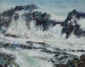 Rudi Weiss Berge, 17-2017 Öl auf Leinwand