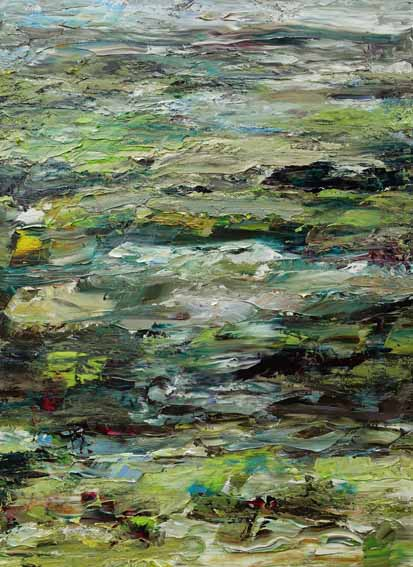 Rudi Weiss Landschaft, 21-2021 Öl auf Leinwand