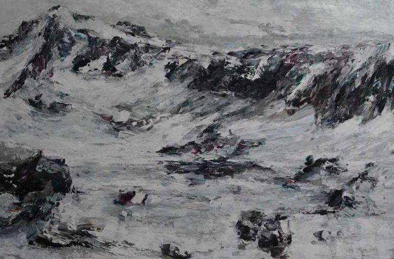 Rudi Weiss Berge, 23-2019 Öl auf Leinwand