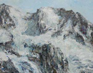 Rudi Weiss Berge, 24-2020 Öl auf Leinwand