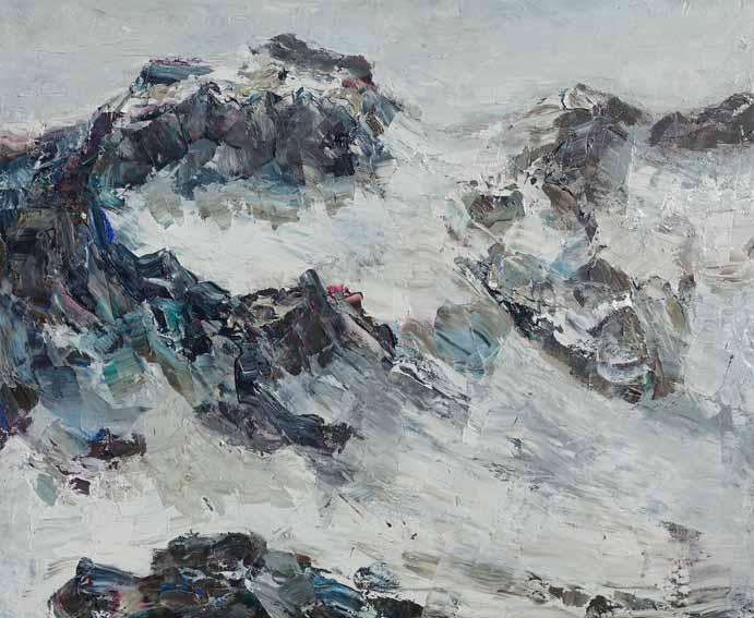 Rudi Weiss Berge, 26-2019 Öl auf Leinwand