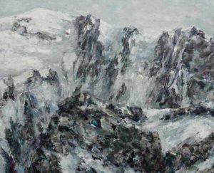 Rudi Weiss Mont Blanc, 28-2019 Öl auf Leinwand
