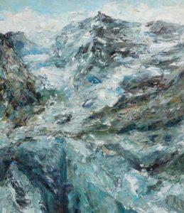 Rudi Weiss Berge, 3-2017 Öl auf Leinwand