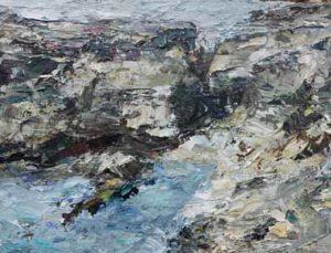 Rudi Weiss Kleine Landschaft, 3-2019 Öl auf Leinwand