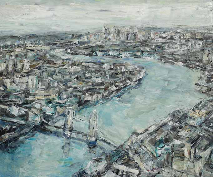 Rudi Weiss London, 3-2021 Öl auf Leinwand