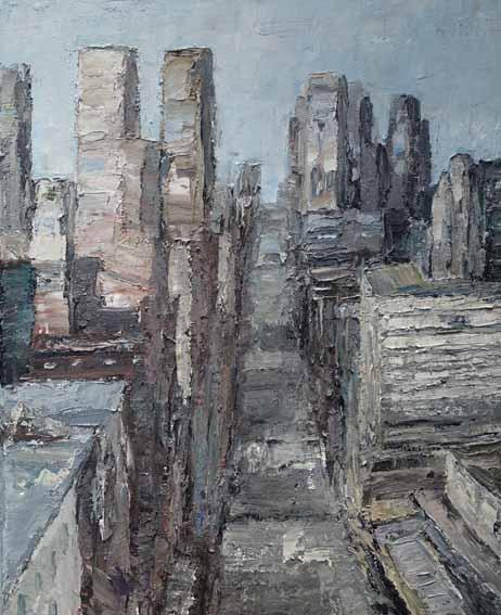 Rudi Weiss New York, 31-17 Öl auf Leinwand