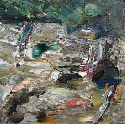 Rudi Weiss Landschaft, 31-2014 Öl auf Leinwand