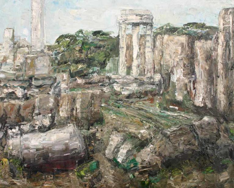 Rudi Weiss Forum Romanum, 32-2015 Öl auf Leinwand