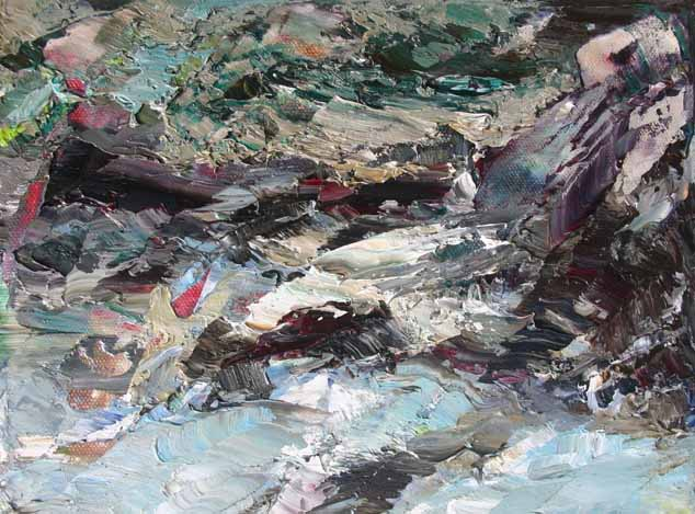 Rudi Weiss Landschaft, 34-2014 Öl auf Leinwand