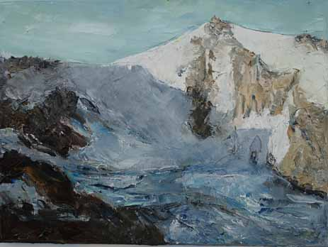 Rudi Weiss Berge, 38-2018 Öl auf Leinwand