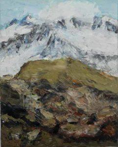Rudi Weiss Berge, 42-2018 Öl auf Leinwand