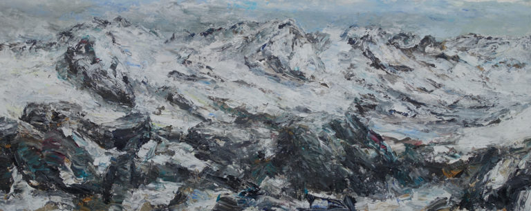 Rudi Weiss Berge, 43-2018 Öl auf Leinwand