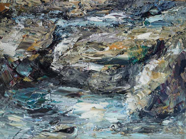 Rudi Weiss Kleine Landschaft, 5-2012 Öl auf Leinwand