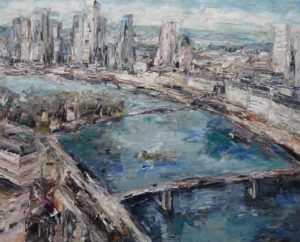 Rudi Weiss Frankfurt, 6-2017 Öl auf Leinwand